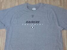 Oakland Raiders NFL Equipment Reebok PlayDry Gray Athletic Shirt ~ Men's XL