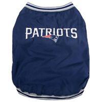 New England Patriots NFL Pets First Dog Pet Sideline Jacket Coat Navy, S-L NWT