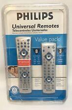 2 Philips Universal Remote Controls NEW PHDVRBP for DVD-VCR-TV-SAT-CBL-DVR-AUDIO