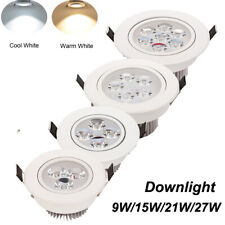 Dimmable Led Recessed Ceiling Down Light Fixture Spot Lamp & Driver  9W 12W 15W