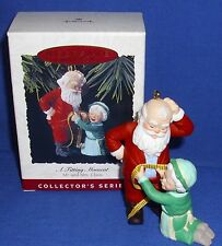 Hallmark Ornament Mr and Mrs Claus #8 1993 A Fitting Moment Santa Gains Weight