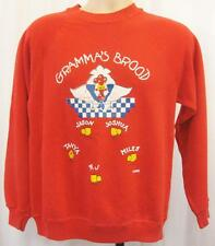 Small - Vintage 90's Red Novelty Nan Chicken Sweater Geek Ugly Pullover - B704