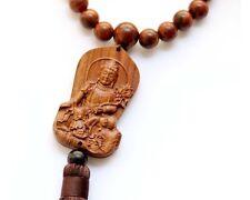 Wood Tibet Buddhist Samantabhadra Bodhisattva Amulet Pendant Car Hanging