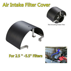 """Stainless Steel Car Air Intake Filter Heat Shield Cover For 2.5"""" To 5.5"""" Filter"""