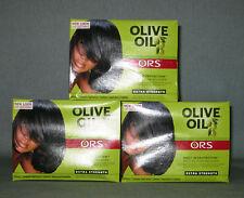 3 x ORGANIC ROOT STIMULATOR Olive Oil Relaxer - Super - Glättungscreme für Haare