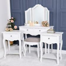White Dressing Set Pair Of Bedside Table Ornate French Chic Bedroom Furniture