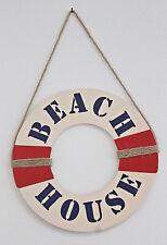 SALVAGENTE LEGNO BEACH HOUSE  ø 38 Cm. ARREDO MARINO VETRINA NEGOZIO IDEA REGALO