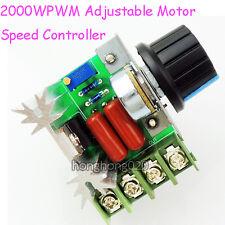 2000W AC 50-220V 25A Adjustable Motor Speed Controller Voltage Regulator PWM