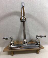 Delta Centerset Kitchen Gooseneck Spout Faucet Lever Handles Model # 413763