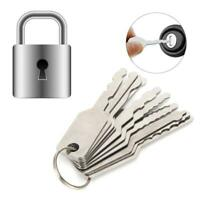 10PCS Car Lock Keys Stainless Steel Emergency Lock Unlocking Repairing Tool Kit
