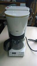 Kaffeemaschine Braun 12Tassen weiß Filterkaffeemaschine mit Entkalker und Timer