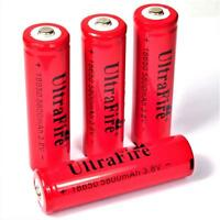 4 x Ultra Fire 5800 mAh 18650 Lithium Ionen Akku 3,8 V - mehr Leistung ! je 36 g