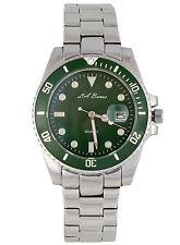 Reloj para Hombre LA Banus Submariner Dial Verde De Acero Inoxidable 3ATM Buceo Estilo DGUK