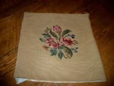 Vintage Roses Floral Needlepoint Pillow Cover Brocade Chic Shabby Cottage
