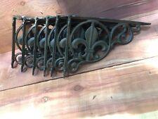 6 Fleur De Lis Shelf Brace Shelf Bracket Corbel Cast Iron Rustic FREE SHIPPING