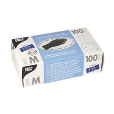 1000 schwarze Latex Handschuhe puderfrei Einweghandschuhe Größe M