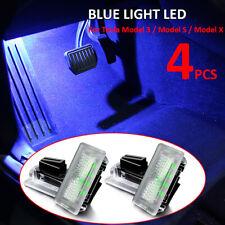 4Pcs Ultra-bright Blue Light LED Inner For Tesla Model 3 Model S Model X