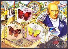 Malawi 2012 MNH SS, Odd Hexagon Butterflies, Pierre Andre Latreille Zoologist ()