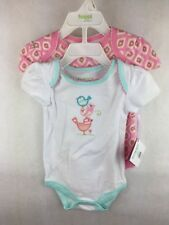 Girl's Happi Bird and Pink 2 Pack Bodysuit Infant Size 6 / 9 months