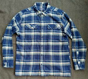 Patagonia Flannel Shirt Long-Sleeved Organic Cotton Fjord