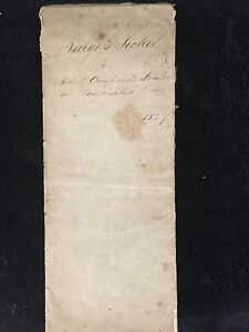 ANTIQUE DOCUMENT-BURGERS TICKET ROBERT CAMBELL-FREEDOM OF THE CITY ..1827
