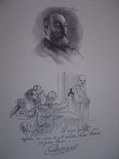 Gravure Portrait de Albert BESNARD 1900