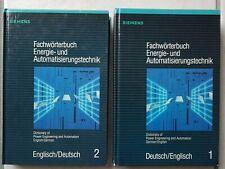 2x Bücher Fachwörterbuch Energie-und Automatisierungstechnik Deutsch u. Englisch
