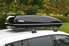 BRAND NEW THULE OCEAN 200 450LTR GLOSS BLACK ROOF BOX IDEAL BMW 3 SERIES ESTATE