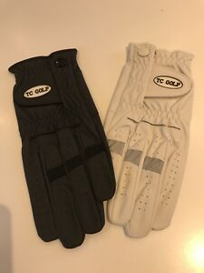 2 All Weather Golf Gloves, Left Hand, Size Extra Large, Black And White, BNIB