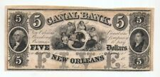1840s  Canal Bank New Orleans $5 note Unissued - Uncirculated Fine