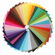 Jumbo Pack of Acrylic Felt - 60 A4 Sheets in 15 Assorted Colours tracked deliv.