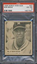 1936 World Wide Gum #27 Bob Seeds PSA 4 Newark Bears