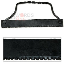Classic Iron Age Medieval Hand Saw Forged Tool Historical Construction Device