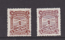 New Zealand  1913/44 Life Insurance dept. 3d Brown-Lake Lightly mounted Mint