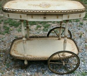 Italian Rolling Tea Beverage Trolley Bar Dessert Cart
