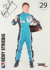 Remy striebig Mano Firmado Le Mans Promo Card 2016 CME.