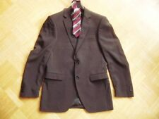 @ Finest Quality @ Anzug schwarz Nadelstreifen Modell Elvis Gr 44 Size S wie NEU