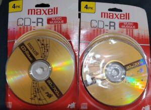 2 - Maxell CD-R  4pk  New On Card 80 Min