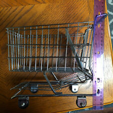 Mini Metal Grocery Shopping Cart Toy Basket Wheels