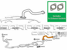 FOR ISUZU TROOPER 3.0 TD DTI REAR EXHAUST LINK PIPE CENTER & BACK SILENCER BOX