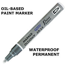 silver paint marker oil based waterproof pen wood glass plastic tyre. Black Bedroom Furniture Sets. Home Design Ideas