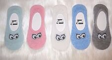 Lovely Smile Lips Ladies Women Short Invisible No Show Low Cut Loafer Boat Socks 3 Blue - 6528
