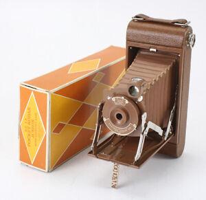 NO. 1A POCKET KODAK JUNIOR, BROWN/BROWN, BOXED, CASE MISSING, AS-IS/cks/195414