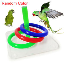 FM_ Pet Bird Parrot Throw Ring Board Funny Training Puzzle Educational Toy Trend