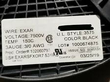 Champlain Cable Exar 150 SFX-OR #3/0awg Lead Wire UL-3575 150C/7500V Black /5ft