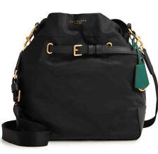 Tory Burch Perry Nylon Drawstring Bucket Shoulder Crossbody Bag ~NWT~ Black