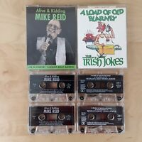 MIKE REID ALIVE AND KIDDING & THE BEST IRISH JOKES CASSETTE TAPES ADULT HUMOUR