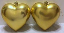 Ikea Kallt Gold Hearts Set of 2 Christmas Ornaments Tree Holiday Decoration Xmas