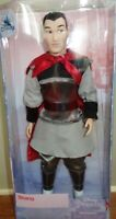 """Disney Store Prince Shang Classic Doll  11 1/2"""" tall"""