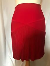 Herve Leger Authentic VGC Chic Knit Pleated Skirt Sz M